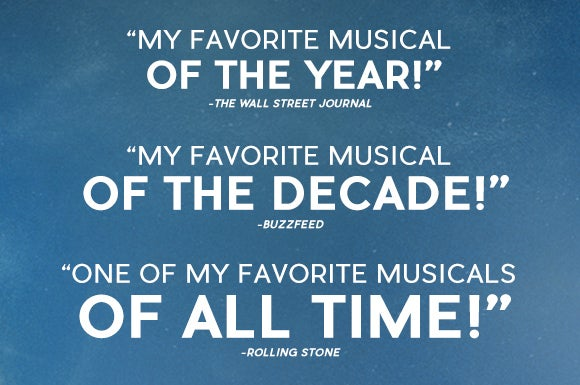 My Favorite Musical Of The Year! -The Wall Street Journal